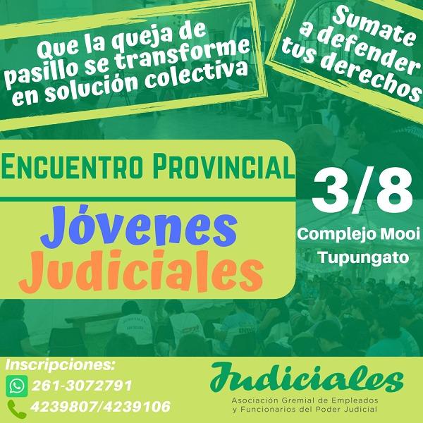 JÓVENES JUDICIALES DE MENDOZA SE REUNIRÁN EN TUPUNGATO