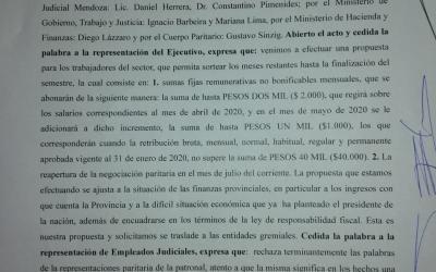PARITARIA SALARIAL EMPLEADOS JUDICIALES