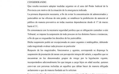 INFORMACIÓN SOBRE LA ACORDADA 29501