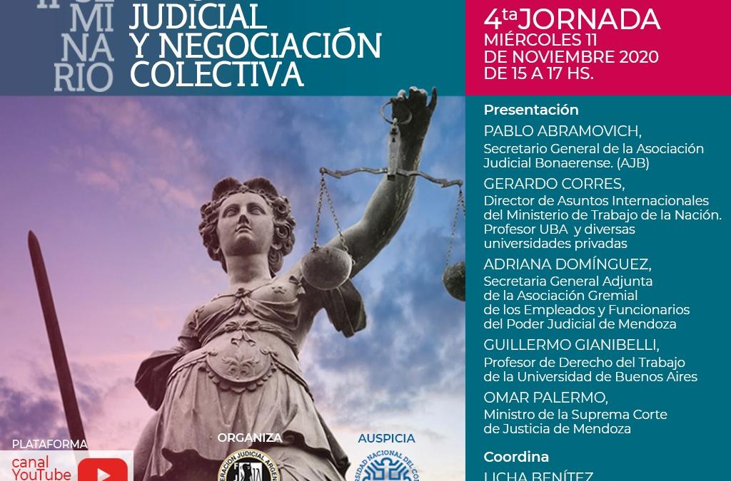 FINALIZÓ EL SEGUNDO SEMINARIO SOBRE NEGOCIACIÓN COLECTIVA EN EL SISTEMA JUDICIAL