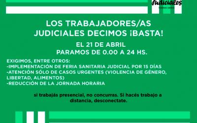 LOS TRABAJADORES Y TRABAJADORAS JUDICIALES DECIMOS BASTA