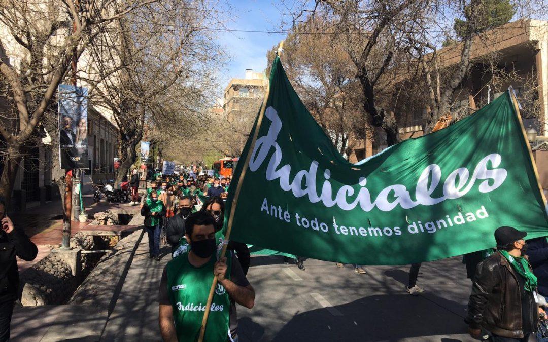 LOS JUDICIALES SE HICIERON ESCUCHAR EN TODA LA PROVINCIA
